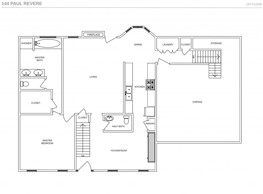 floor plan 144 paul revere